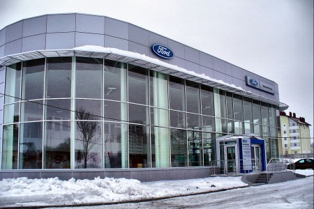Prefabricated car dealerships FORD